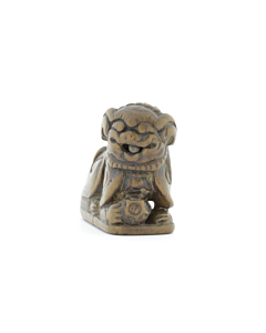 Wooden Netsuke, Shishi, Chinese Lion, Japanese antique, Japanese art