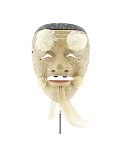 Okina, Noh Mask, Old Man, Theatre, Japanese antique, Japan