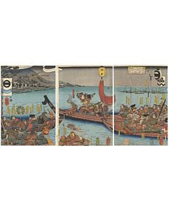 kuniyoshi utagawa, warrior print, japanese woodblock print, samurai