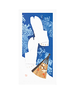 Kunio Kaneko, Tabi, Contemporary Art, Japanese woodblock print, Socks