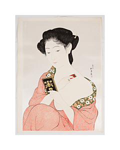 goyo hashiguchi, japanese make-up, japanese woodblock print, japanese beauty, antique, shin hanga