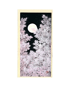 Teruhide Kato, Cherry Blossom and Full Moon, Contemporary