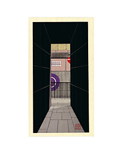 Teruhide Kato, A Back Alley, Contemporary Art, Travel, Traditional, Original Japanese woodblock print