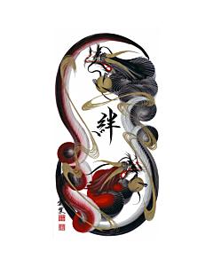 Tetsuya Abe, Dragons, Bonds, Contemporary Art, Original Japanese ink painting