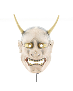Hannya, Demon Mask, Noh Theatre, Original Japanese antique.