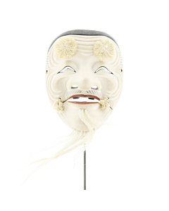 Hakushiji-jo Okina, Noh Theatre Mask, Traditional, Old Man, Mask, Original Japanese antique