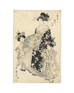 utamaro, courtesan, edo period, kimono fashion, beauty, japanese pattern, japanese design