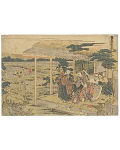 Hokusai Katsushika, kanadehon chushingura, loyal retainers, fourty seven ronin, japanese woodblock print, japanese antique, edo