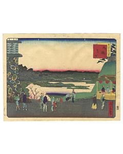 shosai ikkei, kudanzaka, famous views of tokyo, new capital, meiji, landscape