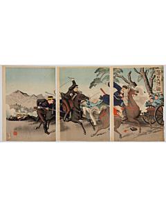 ginko adachi, war print, senso-e, japanese history, imperial army, meiji period
