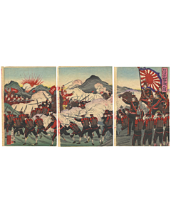 war print, battle, japanese imperial army, japanese history, meiji era
