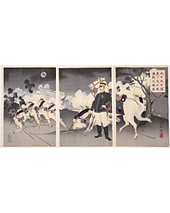 Toshikata Mizuno, The Great Victory of Pyongyang, War Print