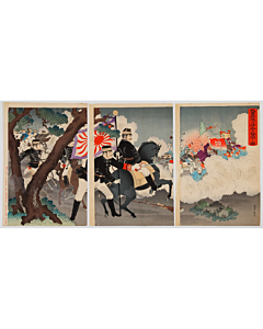 ginko adachi, war print, senso-e, japanese imperial army, japanese history, meiji period