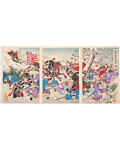 Nobukazu Yosai, The Battle between Japan and China in the Snow