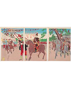 nobukazu yosai, war print, hiroshima, japanese imperial army, meiji period