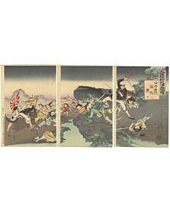 war print, senso-e, japanese history, japanese imperial army, meiji era