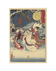 kunisada II, toyokuni IV, kimono, winter, beauty, japanese woodblock print