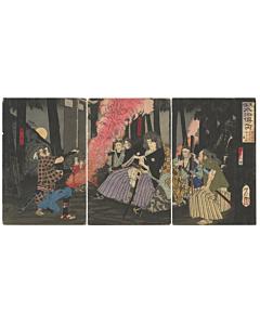 Yoshitoshi Tsukioka, Tempo Suikoden, Water Margin, Warrior, Hero
