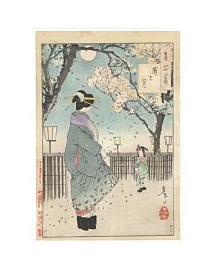 yoshitoshi tsukioka, yoshiwara, one hundred aspects of the moon